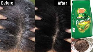 White Hair To Black Permanently in 30 Minutes Naturally | Tea / Chai Hair Dye For Jet Black Hair