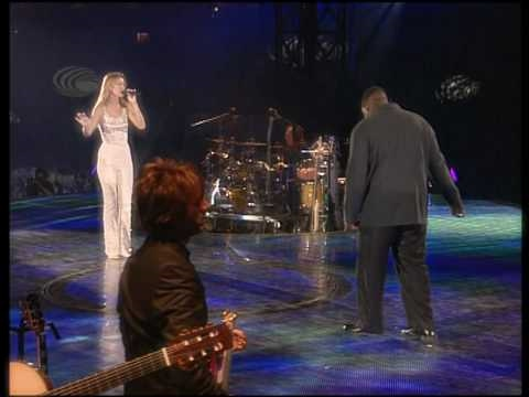 Celine Dion & Barnev Valsaint  Im Your Angel  In Paris at the Stade de France 1999 HD 720p