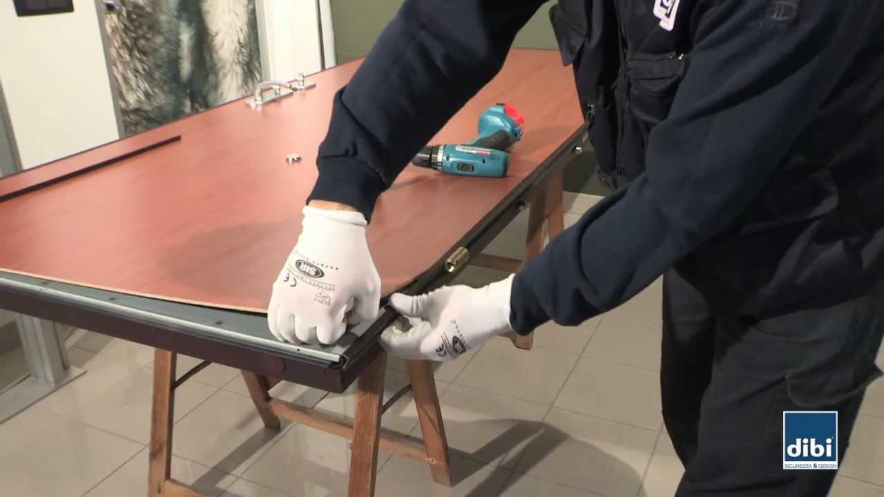 Sostituzione cerniera su anta DIBI Porte Blindate  YouTube