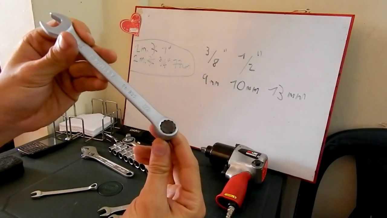 Como reemplazar una llave en milímetros por una en pulgadas (how to ...