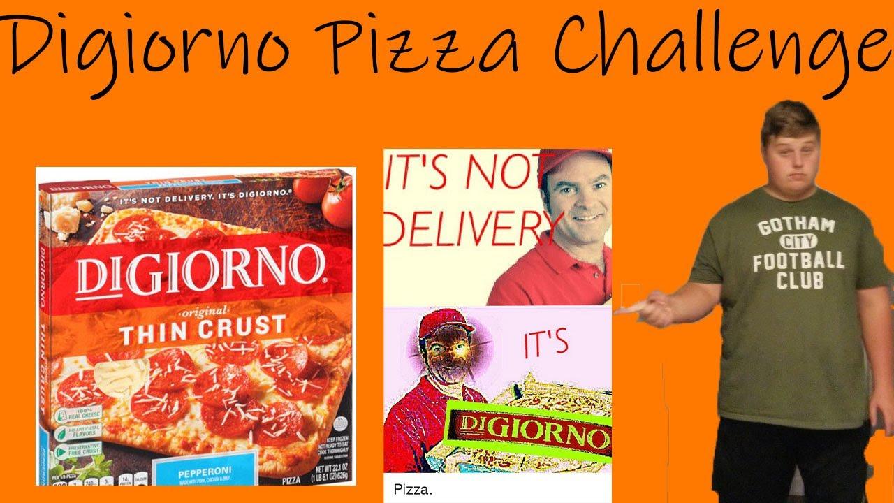 THE DIGIORNO PIZZA CHALLENGE!!!! - YouTube