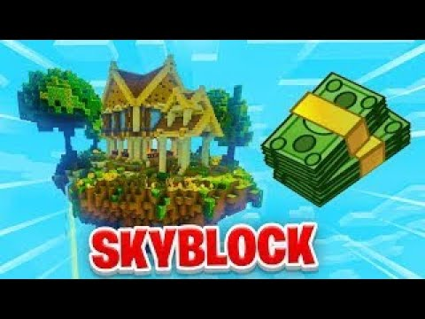 Robux Giveaway Playing Skyblock With Subs Moneybag Giveaways