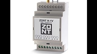 Огляд Інтелектуальний термостат Zont H1 - V