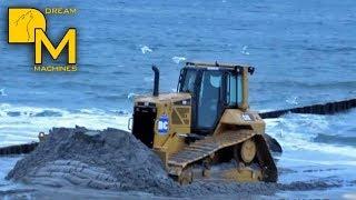 caterpillar on the beach cat d6n dozer cat 319d bagger