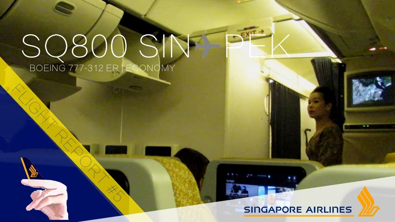 Singapore Airlines Boeing 777-300ER Flight Report | SQ800 Singapore ...