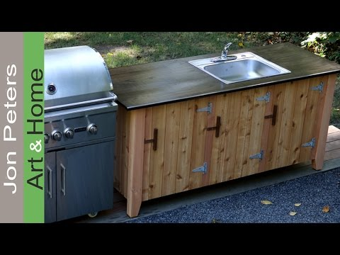 How to Build an Outdoor Kitchen Cabinet - YouTube