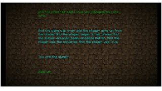 Minecraft Poem/Credits With the Poem/Credits Music