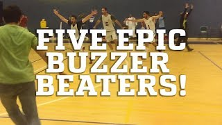 Five Epic Buzzer Beater Basketball Shots!