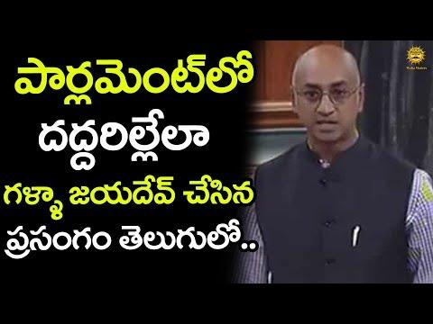 TDP MP Galla Jayadev Mind Blowing Speech in Telugu at the Lok Sabha | Media Masters