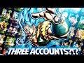 PLAYING THREE JP DOKKAN  ACCOUNTS!?! TRIPLE ACCOUNT SHOWCASE! DBZ Dokkan Battle