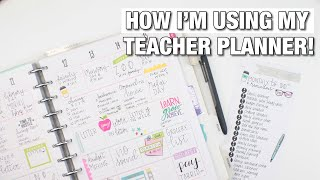 How I'm Using My TEACHER PLANNER | Home Management + Pre Planning | At Home With Quita
