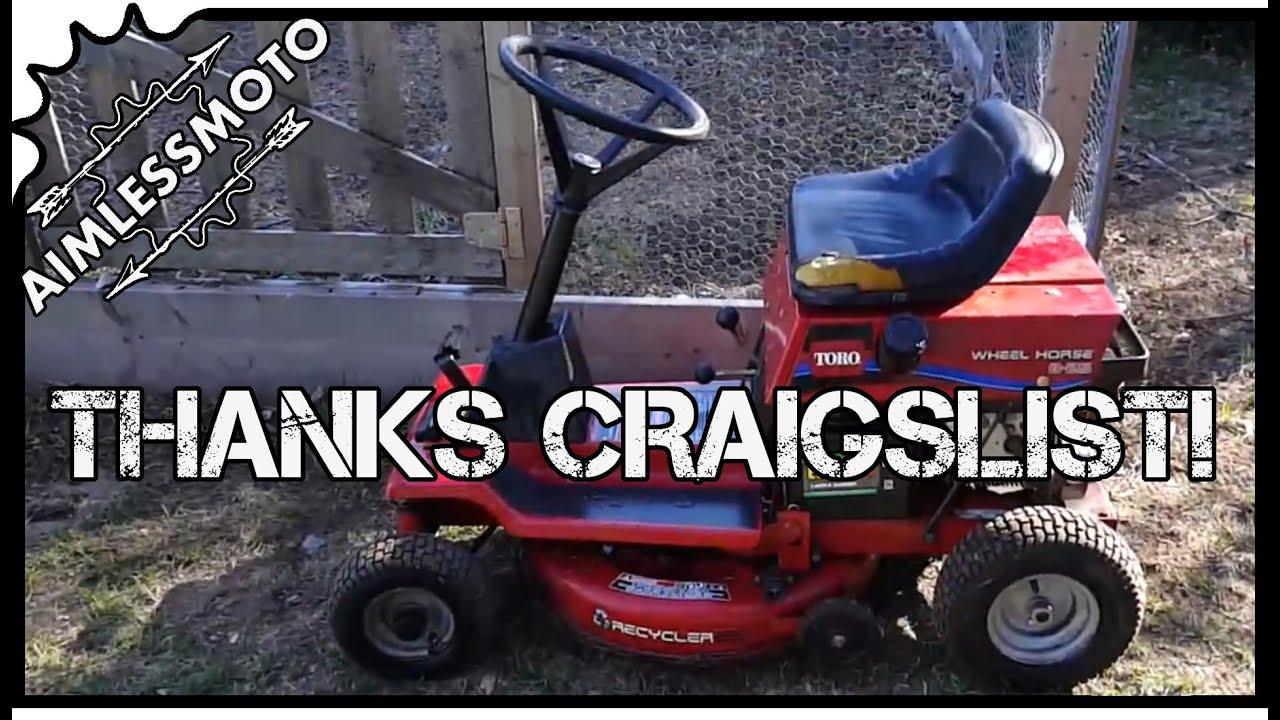 craigslist find toro wheel horse 8 25 60 ride on mower [ 1280 x 720 Pixel ]