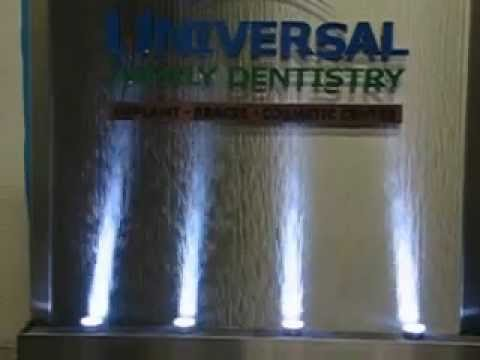 Midwest Tropical Water Feature   Dentist Office, Stainless Steel With Logo  Water Wall (2).avi   YouTube