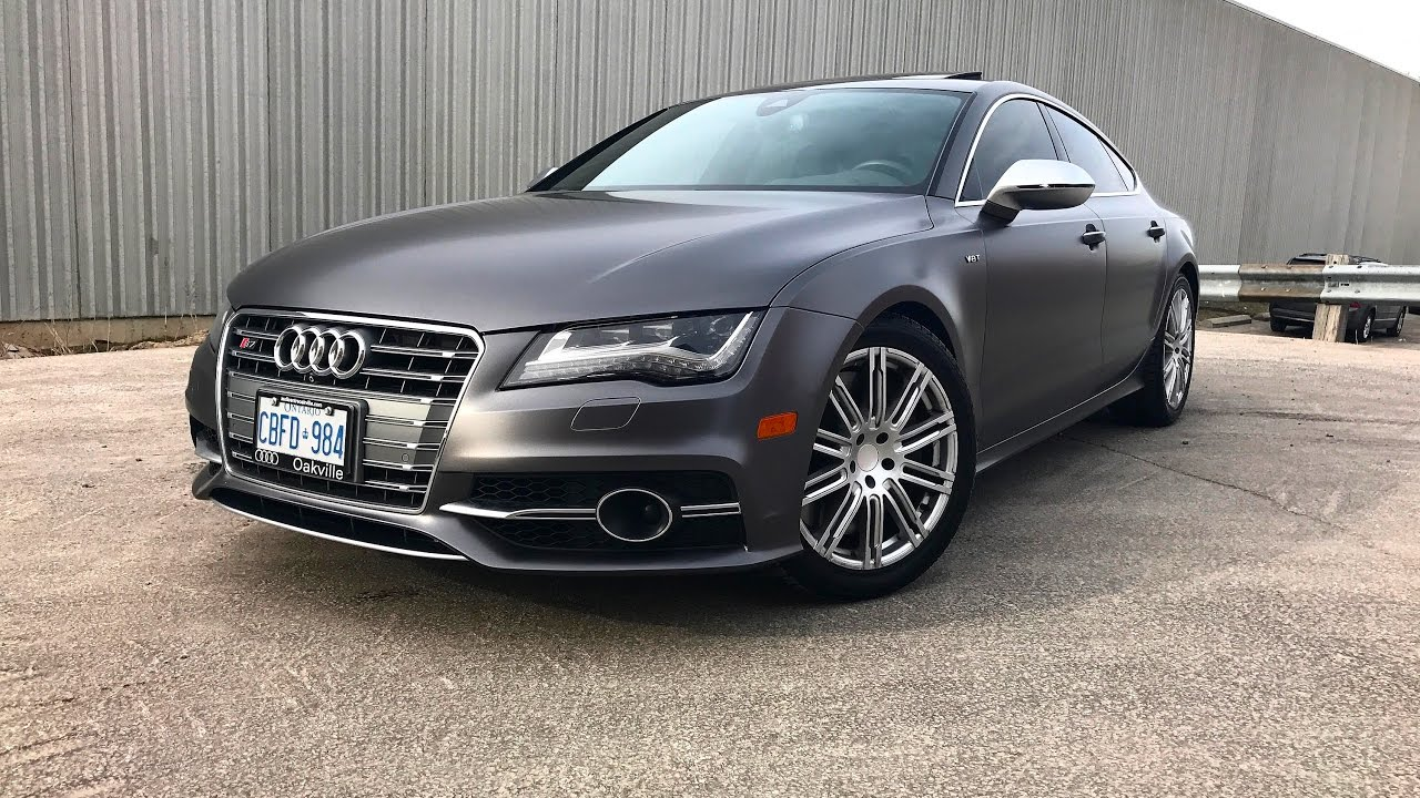 Wraptors Audi S7 Wrapped In Charcoal Grey Mate