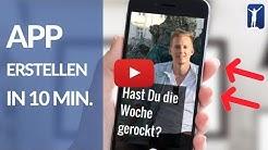 Wie Du Apps für Android & iOS erstellst (in 10 Min., Anfängerguide ohne Programmierkenntnisse)