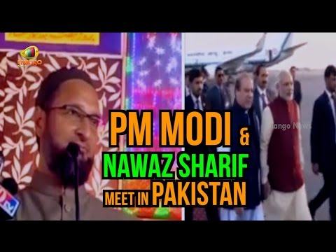 Asaduddin Owaisi Makes Fun Of PM Modi & Nawaz Sharif Meet In Pakistan | Mango News