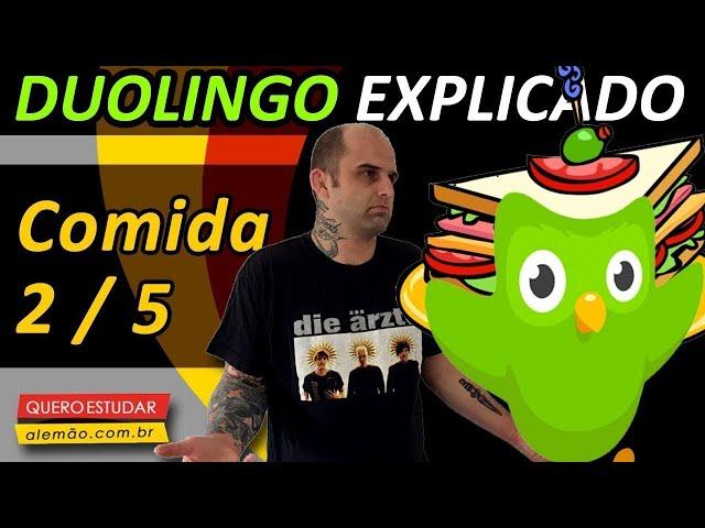 #14 - Curso de alemão gratuito para iniciantes - Comida 2/6 - Duolingo Explicado -