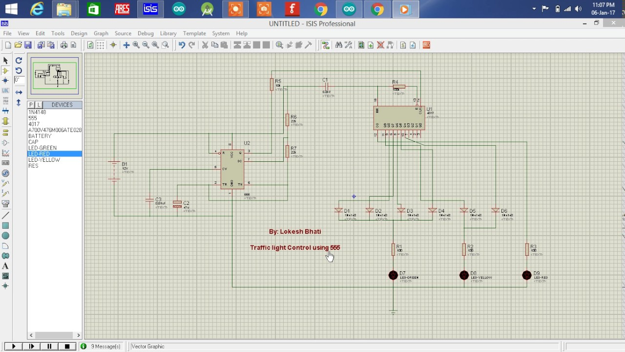 Traffic Light System Using 555 Timer Youtube Circuit Description Sequential Ne555