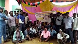 Nelamakanahalli Society alligation in protest Nm halli boys