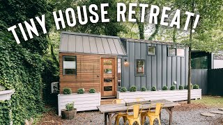 Tiny House That Sleeps 4! | Airbnb Tiny Home Tour!