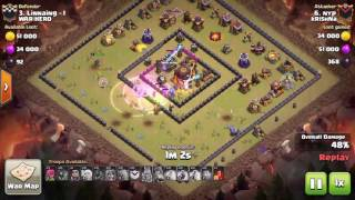 3 star attack on TH 10 square or ring war base - clash of clans