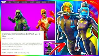 "NEW Fortnite SKINS + ITEMS LEAKED! ""WRECK RAIDER"", ""REEF RANGER"" Skin + More Found In v5.1 PATCH!"