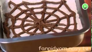 Рулет с паутиной -- вкуснейший десерт