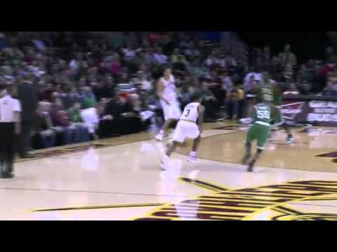 Alonzo Gee huge slam dunk over Chris Wilcox and the Celtics (1/31/12)