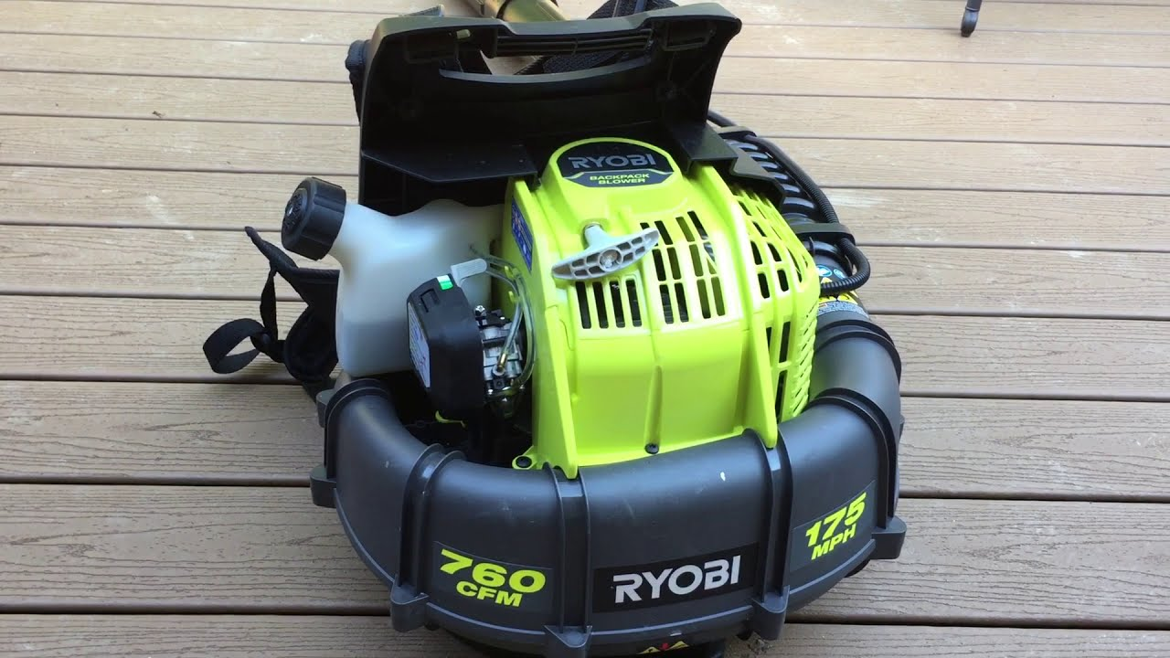 Ryobi 175 Mph 760 Cfm 38cc Gas Backpack Leaf Blower See Update In Description Youtube