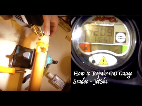 How to fix repair Gas Gauge SeaDoo F1 Fuse Fuel Sending Unit Troubleshooting GTX Baffle