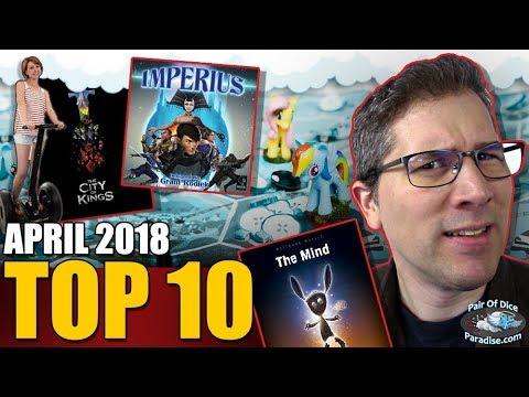 Top 10 most popular board games: April 2018
