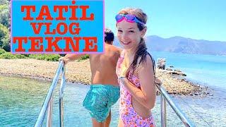 Tatil Vlog 3 - Tekne. Ecrin Su Çoban