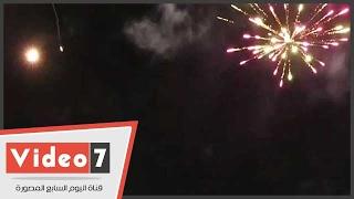 الألعاب النارية تزين سماء ميت عقبة احتفالا بفوز الزمالك بالسوبر المصرى