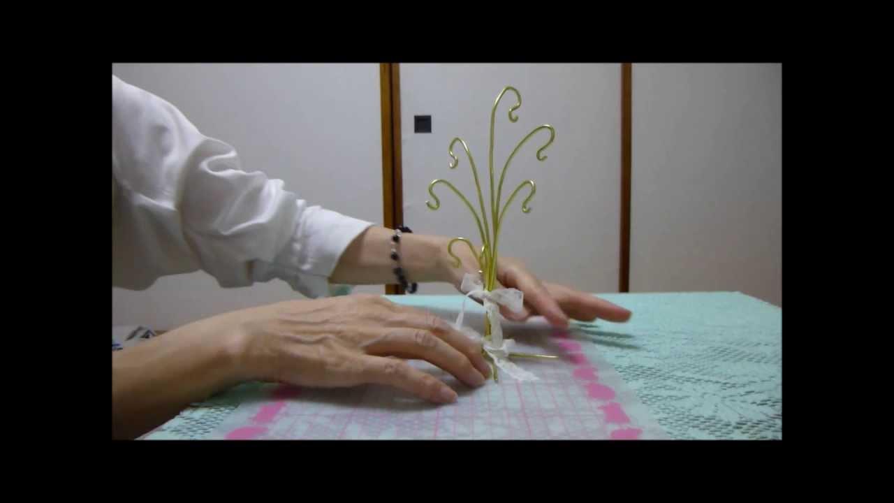 100円針金のジュエリースタンドの作り方 , YouTube