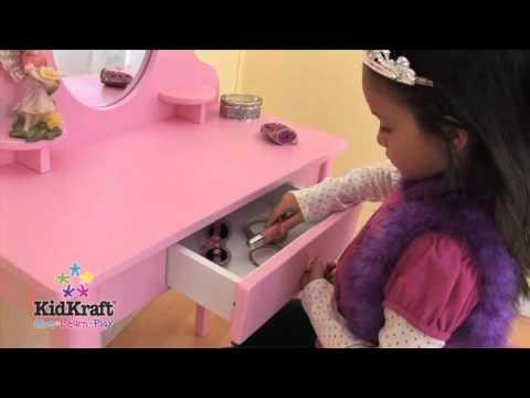 KidKraft's Vanity Table & Stool Set Pink