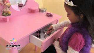 This video is not available. KidKraft's Vanity Table & Stool Set Pink
