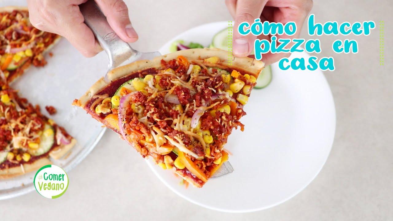 🍕 CÓMO HACER PIZZA VEGANA EN CASA | Rápido y por mucho más saludable...
