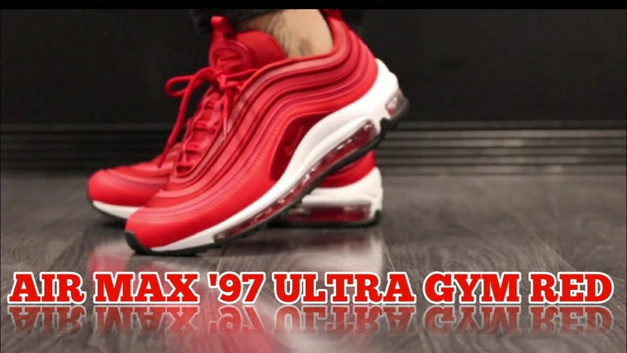 reputable site 6d913 db58b NIKE AIR MAX '97 ULTRA '17 GYM RED ON FEET