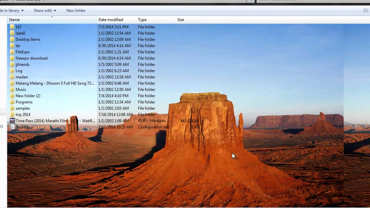 windows 7 wallpaper location: How To Change Folder Background Without Code In Windows 7