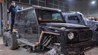 Строим Гелендваген 6х6 на МАКСИМАЛКАХ! ПОТОЛОК как у Rolls-Royce за 20 000$!