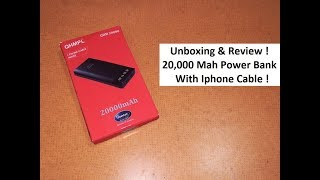 Quantum QHMPL 20 000 Mah Power Bank With IPhone amp Android Cables