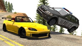 Extreme Police Chases Crashes&Fails (PIT Maneuvers) #16 - BeamNG Drive