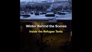 Winter - Inside the refugee tents thumbnail