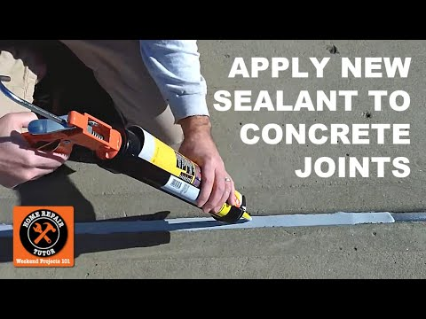How to Reseal Concrete Expansion Joints Part 2 - Apply New Watertight Sealant