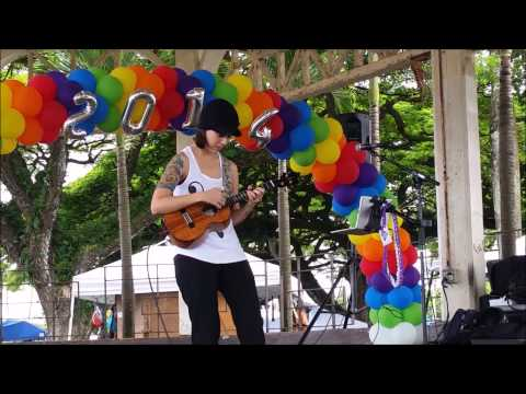 Brittni Paiva covers Alive by Krewella at Hawaii Pride