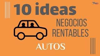 10 ideas de negocios rentables sobre automóviles