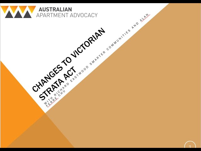 Changes to Victorian Strata Act - live event