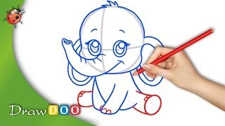 Anime Baby Elephant from Anime Animals Drawing Tutorial