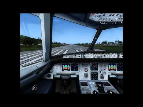 Airbus A319 Take-Off From Rarotonga International Airport, Cook Islands