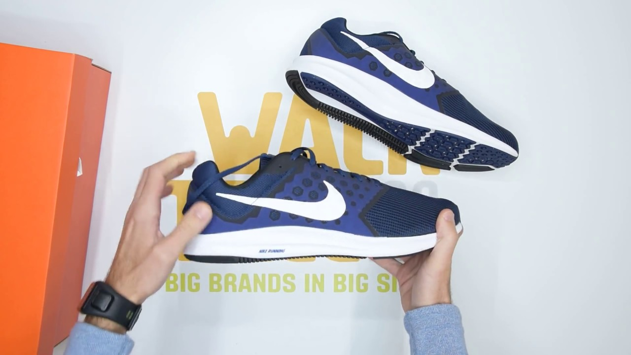6708914c9422 Nike Downshifter 7 4E (Extra Wide) - Navy Black - Unboxing ...